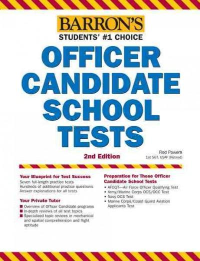 Barron's Officer Candidate School Tests (Paperback)