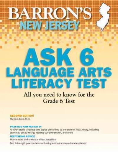 Barron's New Jersey Ask 6 Language Arts Literacy Test (Paperback)