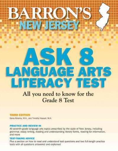 Barron's New Jersey Ask 8 Language Arts Literacy Test (Paperback)