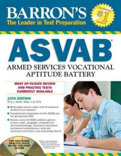 Barron's ASVAB Armed Services Vocational Aptitude Battery