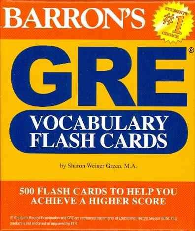 Barron's GRE Vocabulary Flash Cards (Cards)