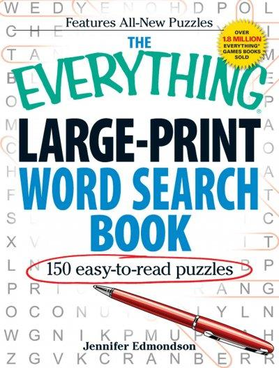 The Everything Large-Print Word Search Book: e50 Easy-to-Read Puzzles (Paperback) - Thumbnail 0