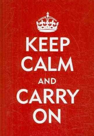 Keep Calm and Carry on: Embossed-gloss Highlights-blank Interior (Cards)