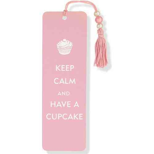 Keep Calm and Have a Cupcake Beaded Bookmark (Bookmark)