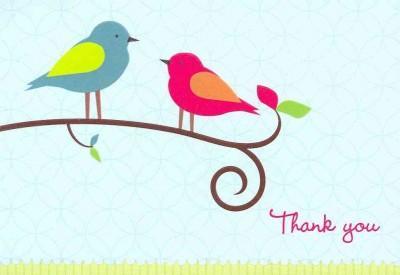 Bird Song Thank You (Cards)