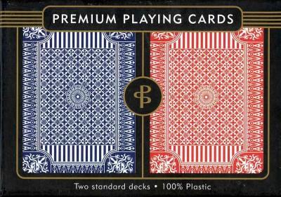 Blue and Red Premium Plastic Playing Cards: Set of 2, Standard Index, Poker Size (Cards)