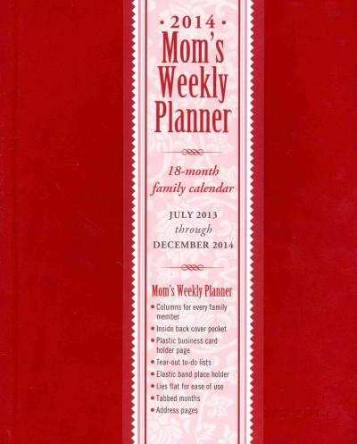 Mom's Weekly Red 2014 Planner 18-month Family Calendar (Calendar)