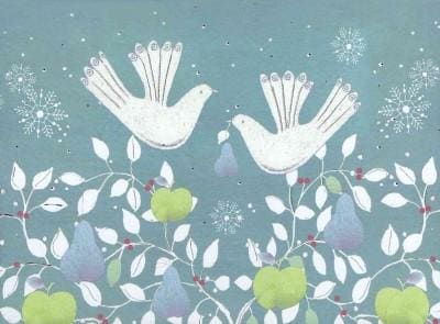 Doves With Fruit Deluxe Boxed Holiday Cards (Cards)