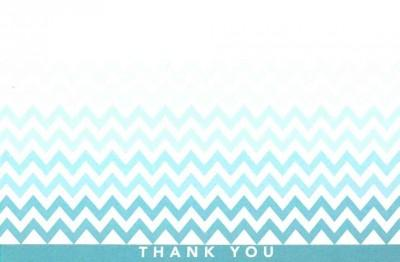 Chevron Thank You Notes (Cards)
