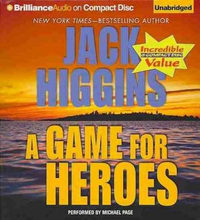 A Game for Heroes (CD-Audio)