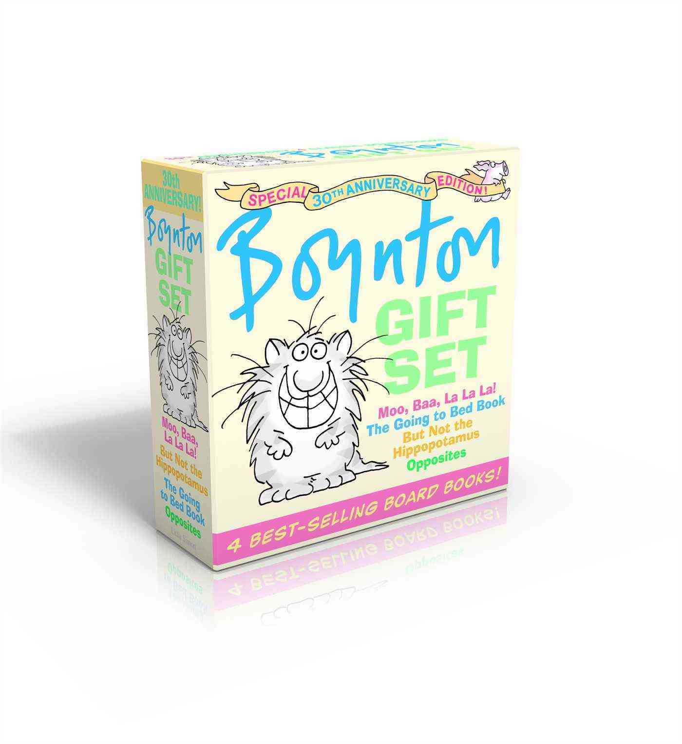 Boynton Gift Set: Moo, Baa, La La La!/ The Going to Bed Book/ But Not the Hippopotamus/ Opposites (Board book)