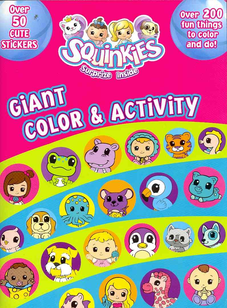 Squinkies Giant Color & Activity (Paperback)