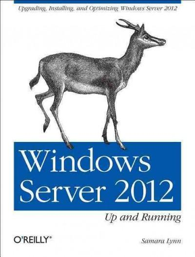 Windows Server 2012: Up and Running (Paperback)