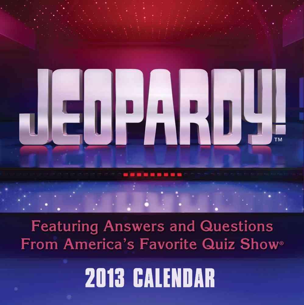 Jeopardy! 2013 Calendar