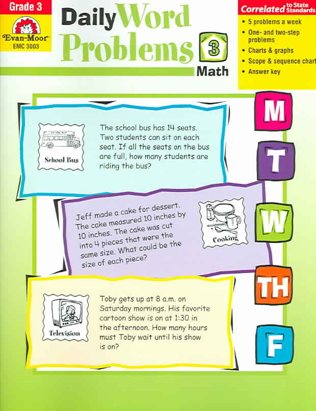 Daily Word Problems, Grade 3 (Paperback)
