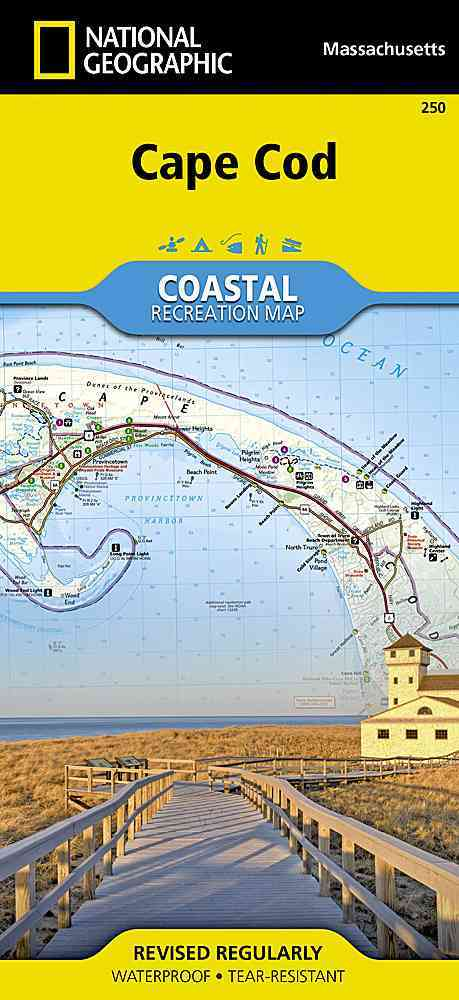 National Geographic Coastal Recreation Map Cape Cod Massachusetts (Sheet map, folded)