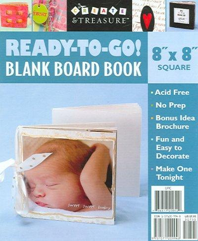 Ready to Go! Blank Board Book: 8 X 8, Square White (Board book) - Thumbnail 0