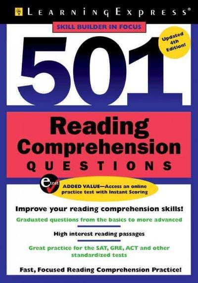 501 Reading Comprehension Questions (Paperback)