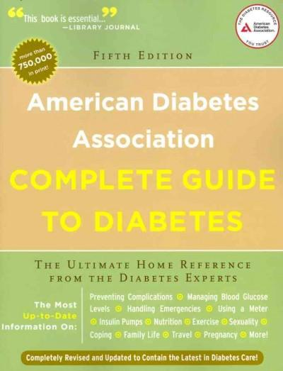 American Diabetes Association Complete Guide to Diabetes (Paperback)
