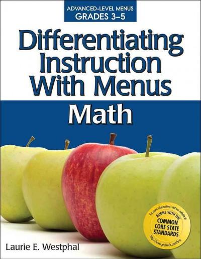 Differentiating Instruction With Menus: Math, Grades 3-5 (Paperback)