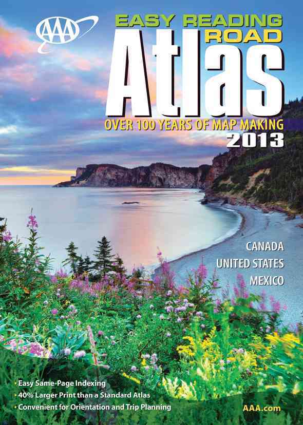 AAA Easy Reading Road Atlas 2013 (Paperback)