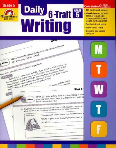 Daily 6-Trait Writing, Grade 5 (Paperback)
