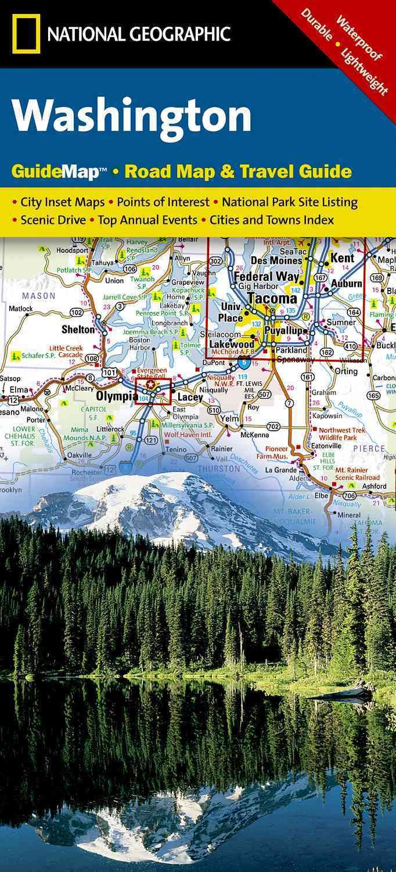 National Geographic GuideMap Washington: Waterproof, Durable, and Lightweight (Sheet map, folded)