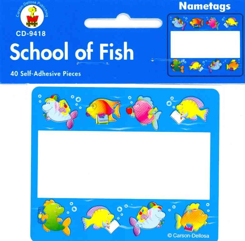 School of Fish Name Tags (Paperback)