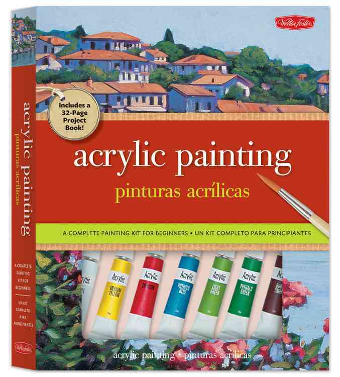 Acrylic Painting / Pinturas acrilicas: A Complete Painting Kit for Beginners / Un kit completo para principiantes (Paperback)