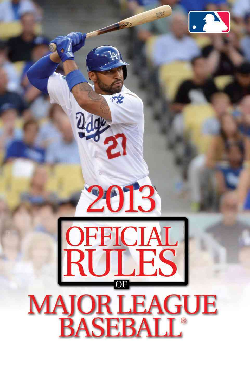 Official Rules of Major League Baseball 2013 (Paperback)