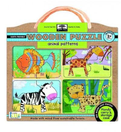 Animal Patterns: Earth Friendly Puzzles with handy carry & storage case (General merchandise)
