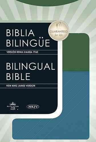 Biblia Bilingue / Bilingual Bible: Version Reina Valera 1960 / New King James Version Blue / Green LeatherSoft (Paperback)