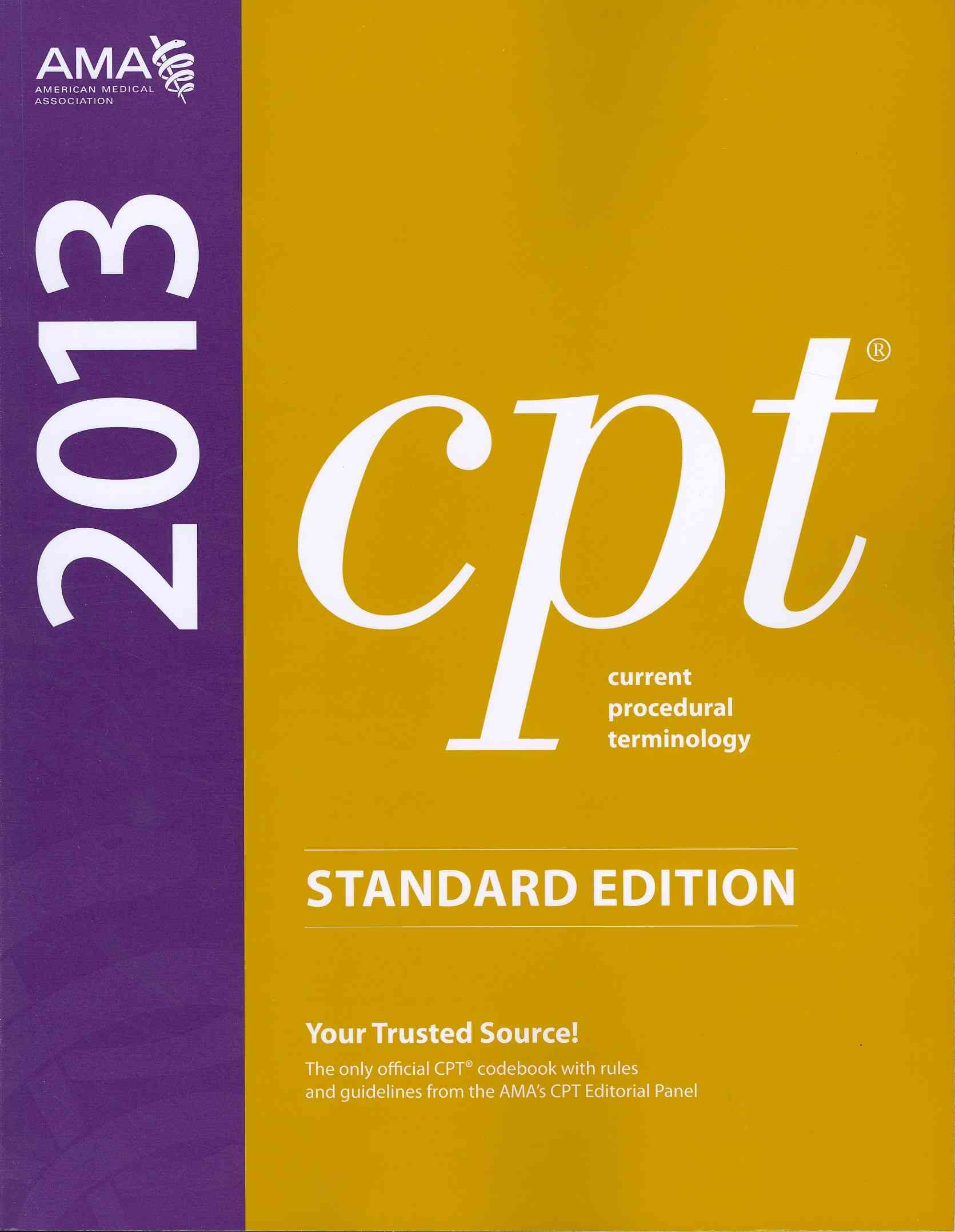 CPT 2013 Standard Edition (Paperback)