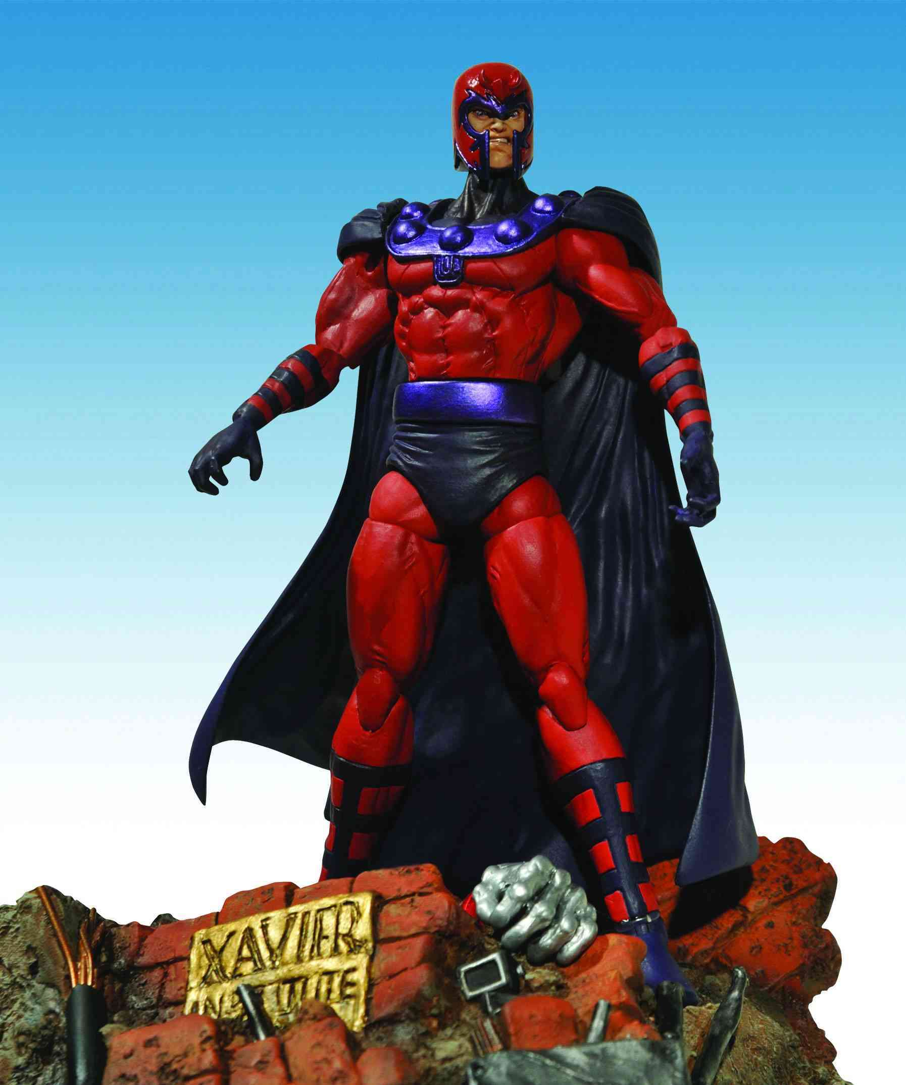 Marvel Select Magneto: Special Collector Edition Action Figure With Highly Detailed Base (Toy)