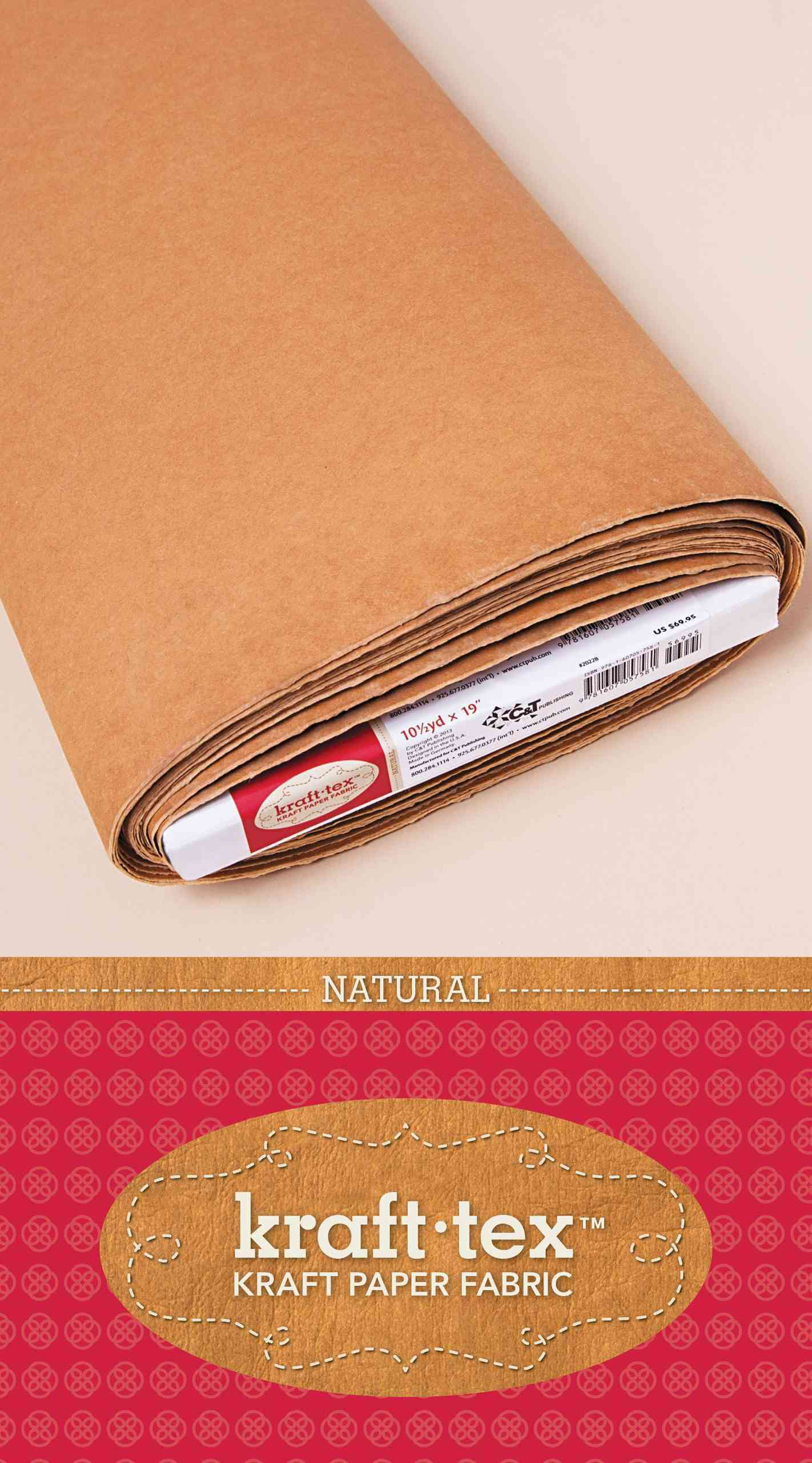"Kraft-tex Kraft Paper Fabric 10 Yards x 19"" (Paperback)"