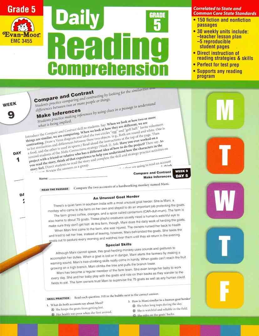Daily Reading Comprehension, Grade 5 (Paperback)