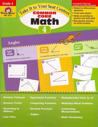 Take It to Your Seat Centers Common Core Math, Grade 4 (Paperback)