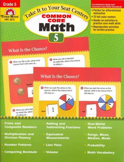 Take It to Your Seat Centers Common Core Math, Grade 5 (Paperback)