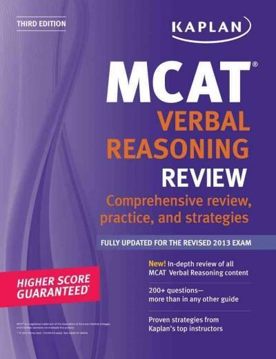 Kaplan MCAT Verbal Reasoning Review (Paperback)