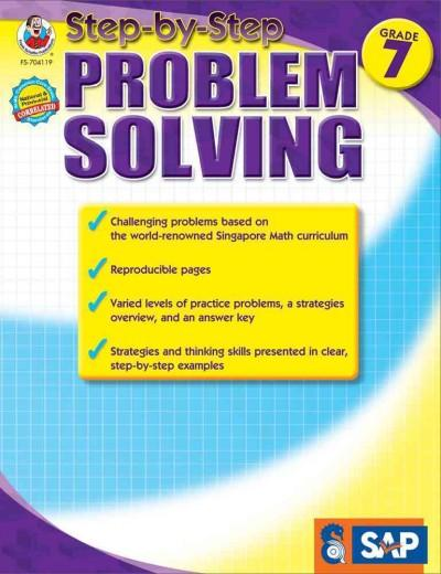 Step-by-Step Problem Solving, Grade 7 (Paperback) - Thumbnail 0