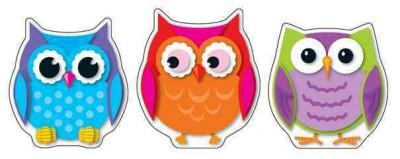 Colorful Owls: Colorful Cut-outs (Cards)