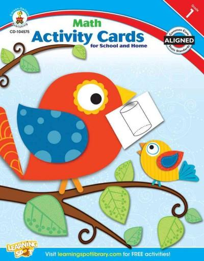 Math Activity Cards for School and Home, First Grade (Paperback)