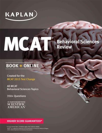 Kaplan MCAT Behavioral Sciences Review