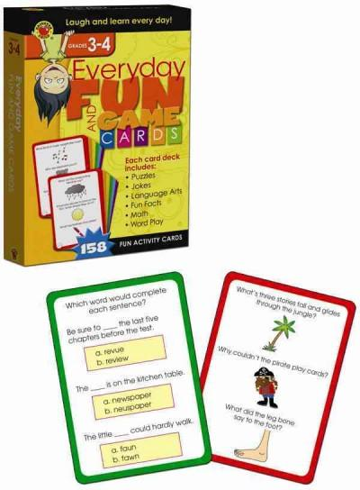Everyday Fun and Game Cards Activity Cards, Grades 3 - 4 (Cards)