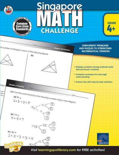 Singapore Math Challenge, Grade 4+ (Paperback)