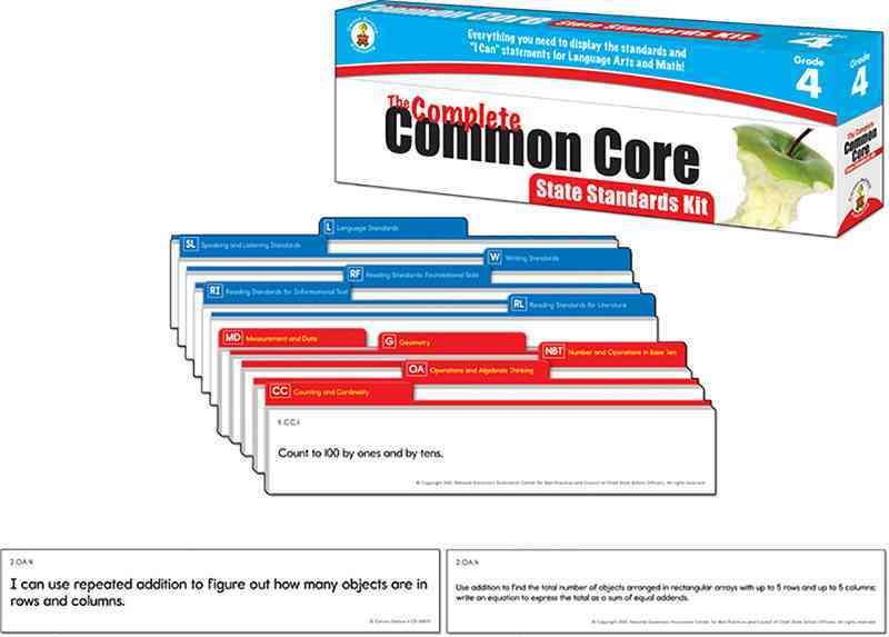 The Complete Common Core State Standards Kit, Grade 4 (Cards)