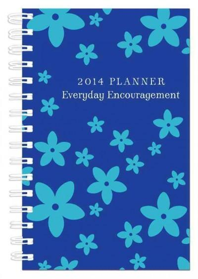 Everyday Encouragement Blue Cover 15-Month 2014 Planner (Calendar)