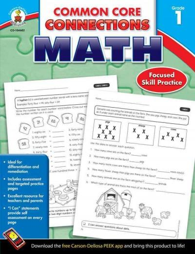 Common Core Connections, Math, Grade 1: 2013 (Paperback)