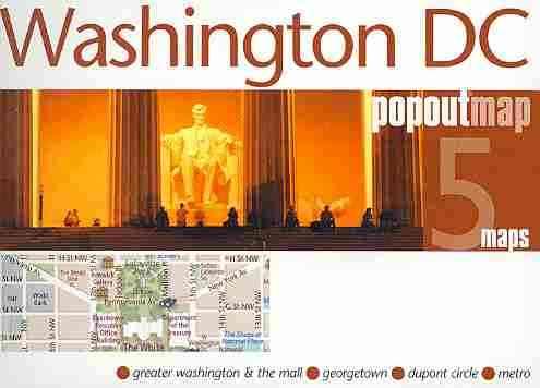 Compass Maps Popoutmap Washington, Dc: 5 Maps (Sheet map, folded)