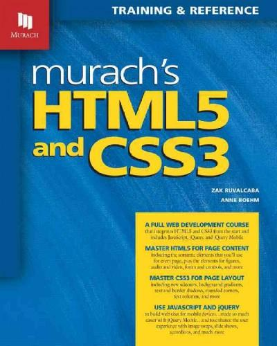 Murach's HTML5 and CSS3: Training & Reference (Paperback)